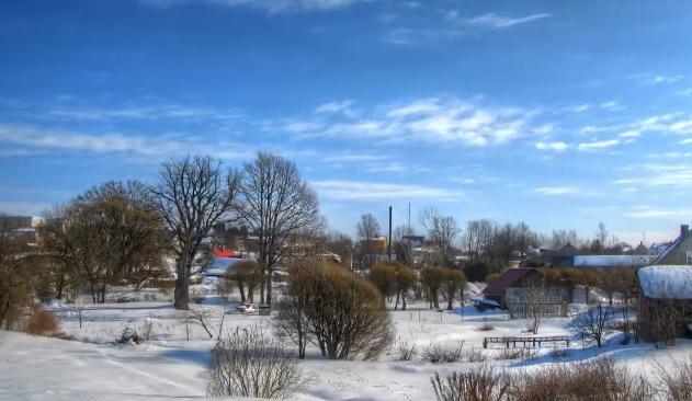 Vidéo d'un ciel nuageux en timelapse HDR