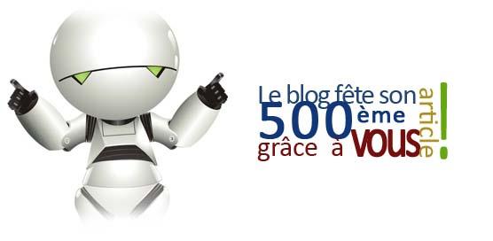 500ème article. Merci à tous !