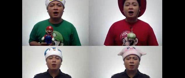 Medley de Super Mario Galaxy interprété par un seul homme