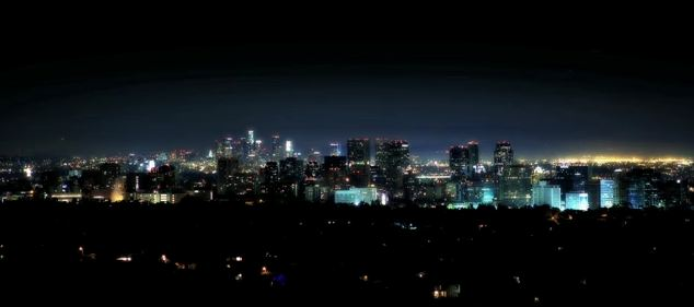 Time lapse de Los Angeles la nuit
