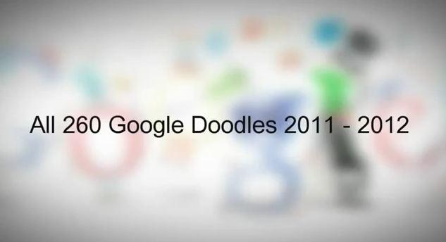 Les 260 Google Doodles de l'année 2011 résumé en vidéo