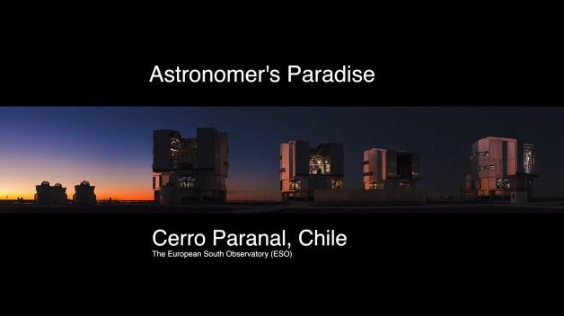 Time lapse de l'Observatoire du Cerro Paranal au Chili