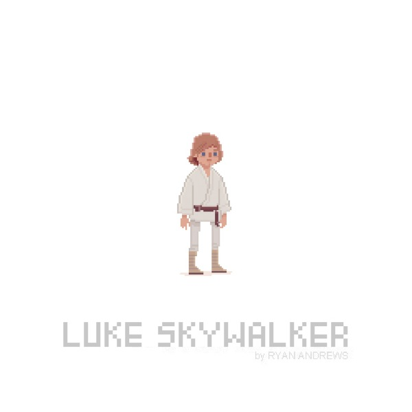 Star Wars version Pixel Art par Ryan Andrews