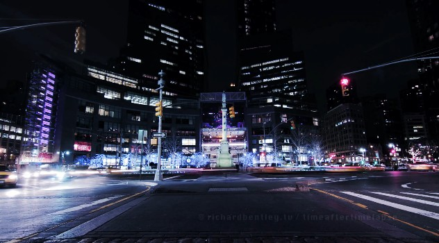 Time lapse de New York la nuit
