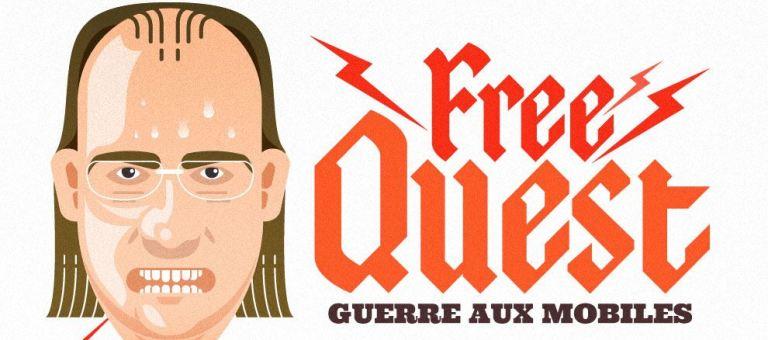 Infographie résumant l'arrivée de Free Mobile de Xavier Niel
