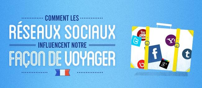 Infographie : Les réseaux sociaux influencent les voyages