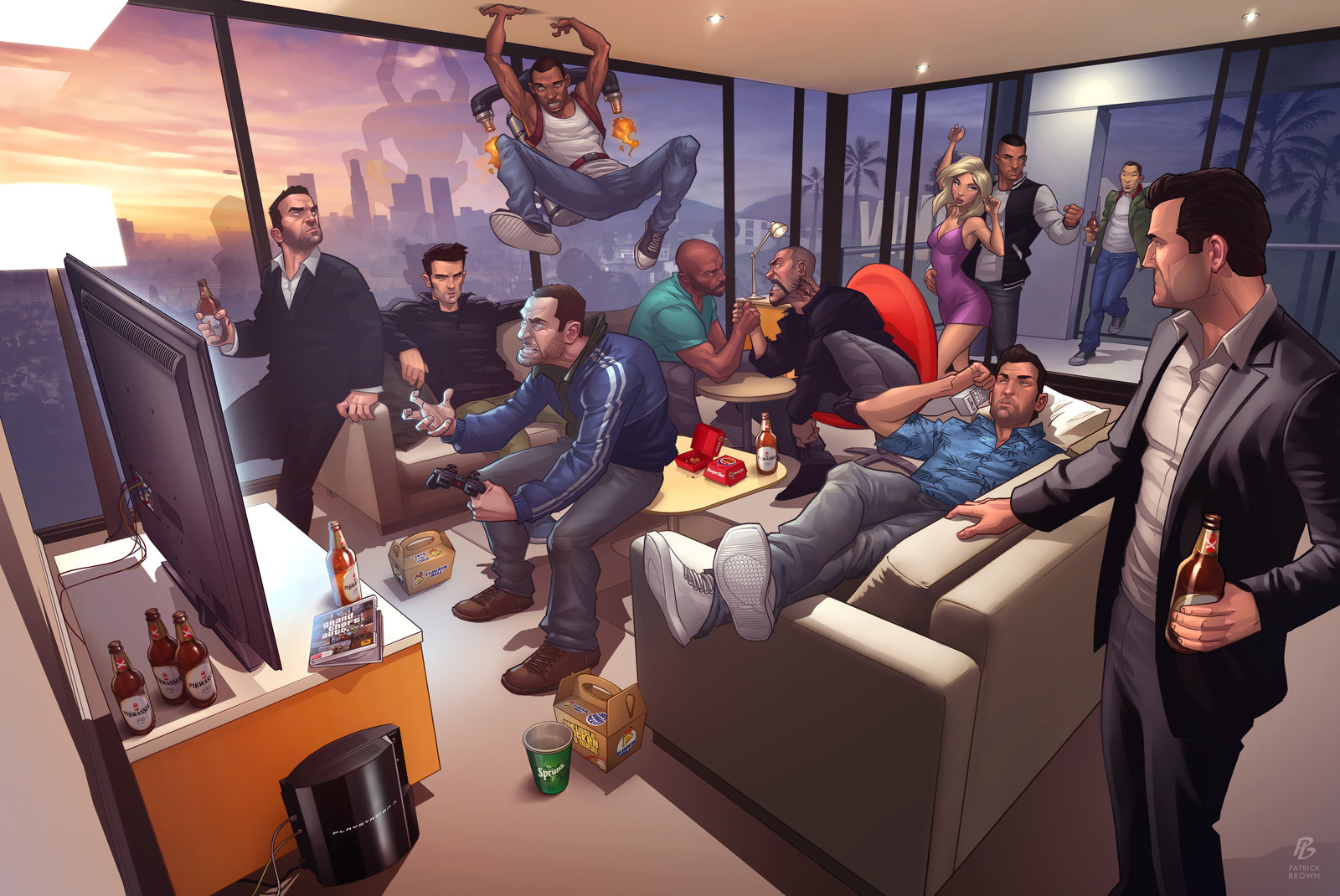 Grand Theft Auto Legends 2012 – Illustration par Patrick Brown
