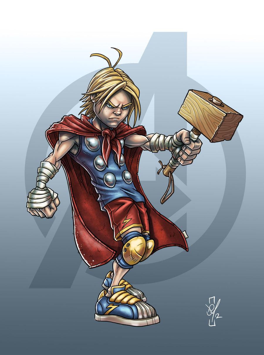 Illustrations des Avengers version enfants par Darren Tibbles