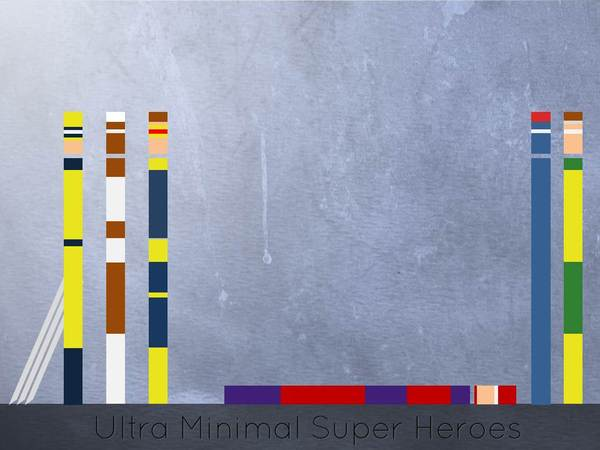 Illustrations de super héros minimalistes par Eyal Rosenthal