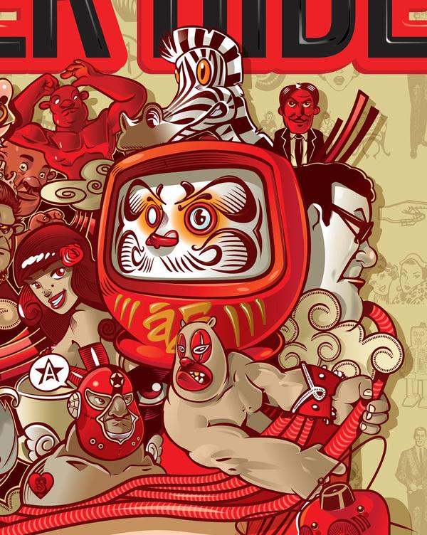 Illustrations drôles et colorées de l'artiste David Sossella