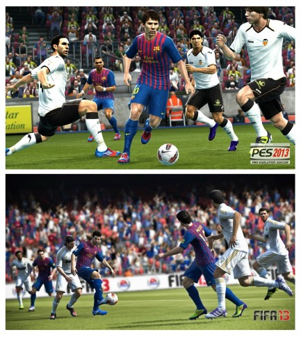Infographie ultime : PES 13 vs FIFA 13