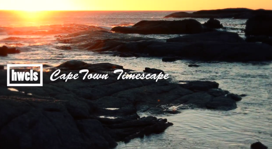 Time lapse de la ville afriquaine : Le Cap