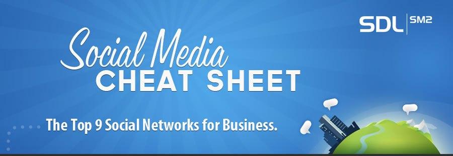 Infographie : Tous savoir sur les réseaux sociaux – Social Media Cheat Sheet