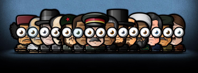 Illustrations «Big Eyed» des personnages politiques par Ahmed Kushha