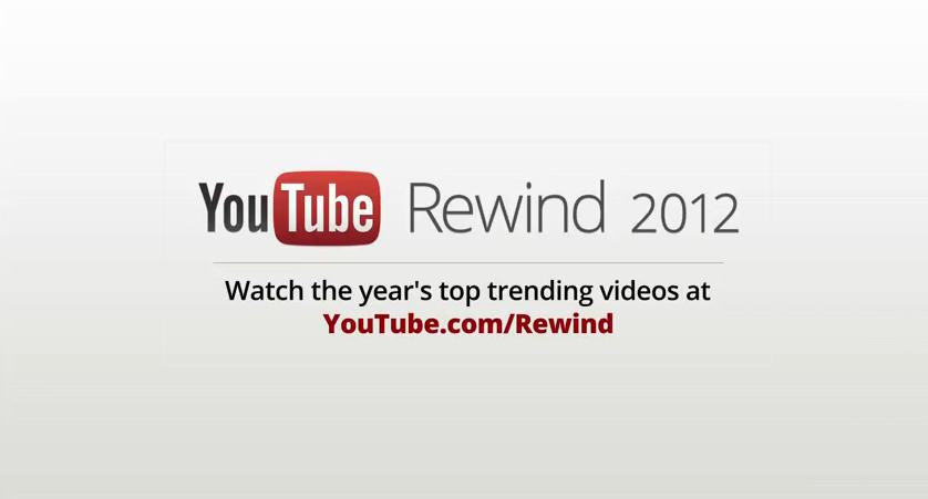 Rétrospective de l'année 2012 vu par YouTube [Funny]