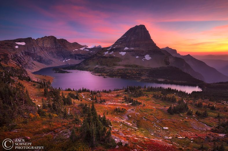 Photographie du jour #289 : Autumn Glacier Sunset