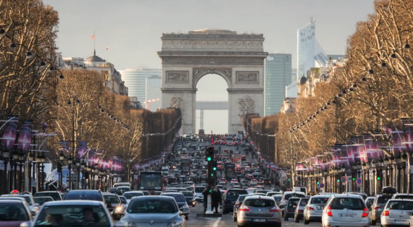 Time lapse de la ville de Paris, sa culture, son histoire et son architecture