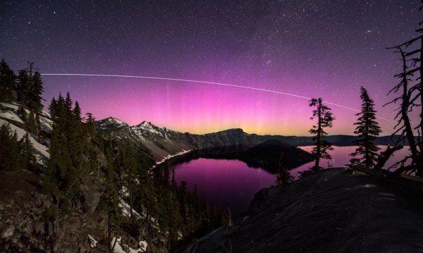 Les Aurores Polaires du Parc national de Crater Lake en time lapse (Vidéo)