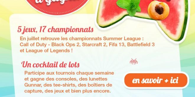 L'été des gamers avec les tournois de la Summer League Glory4Gamers