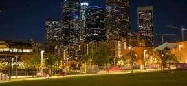 Time lapse nocturne de la beauté de la ville de Los Angeles
