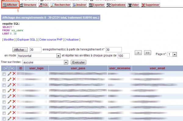 Astuce : Réinitialiser le mot de passe WordPress admin