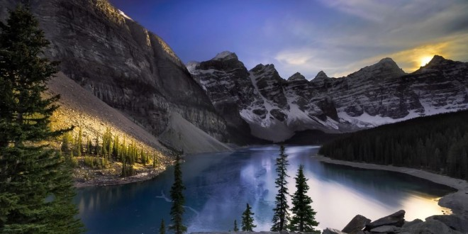 Photographie du jour #453 : Moraine Lake Sunset