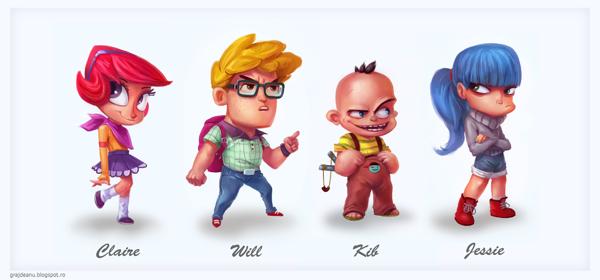 Les personnages cartoons d'Adi Grajdeanu