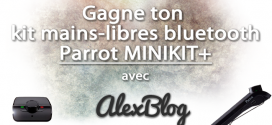 Découverte du kit mains-libres bluetooth Parrot MINIKIT+