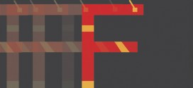 Un abécédaire minimaliste de super-héros en police Helvetica