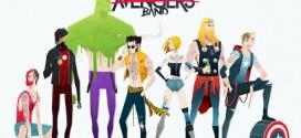 Super Rockers – les super-héros deviennent rockers par Andrés Moncayo