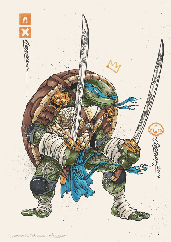 Illustrations des tortues ninja par clogtwo - Tortues ninja leonardo ...