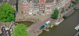 Amsterdam vue depuis son carillon Westerkerk en miniature