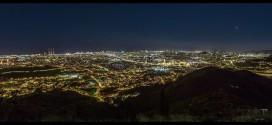 La beauté de Barcelone et de ses alentours la nuit