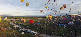 Albuquerque International Balloon Fiesta en time lapse
