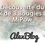 decouverte-pack de 3 Bougies LED MiPow