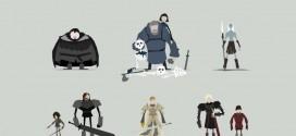 Les illustrations minimalistes de Game of Thrones par Jerry Liu