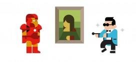 Les icônes de la culture populaire dans des affiches minimalistes