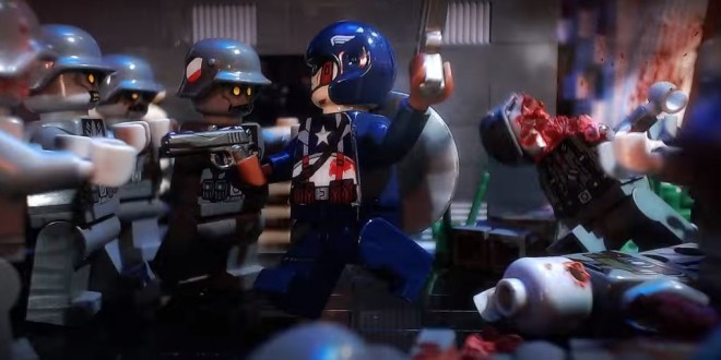 Lego Captain America 3 Nazi Zombies Stop Motion