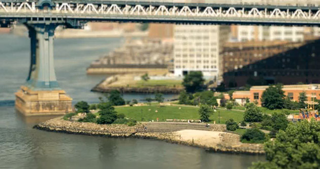 Photo of New York  en tilt shift
