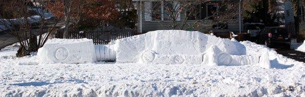 Photo of Un AT-AT dans la neige