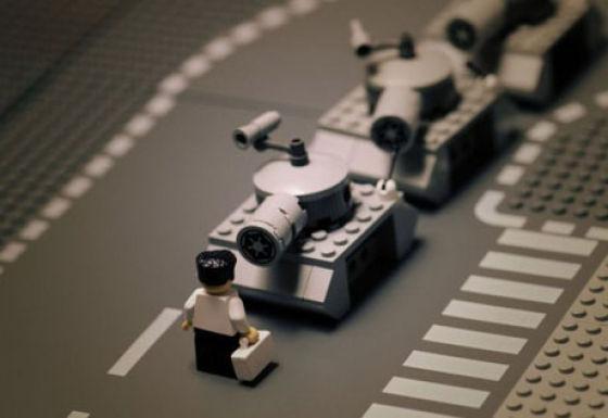 Photo of Des scènes de la vie reproduites en Lego
