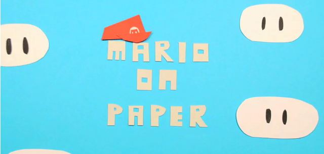Photo of Mario en papier et en stop motion