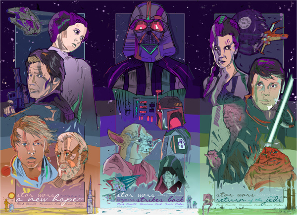 Photo of Impressionnantes Illustrations de Star Wars