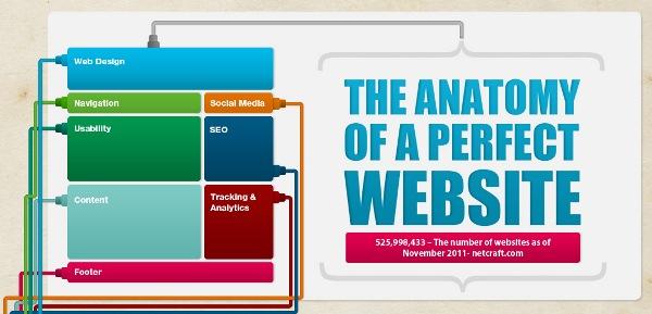 Photo of L'anatomie d'un site parfait résumée en infographie