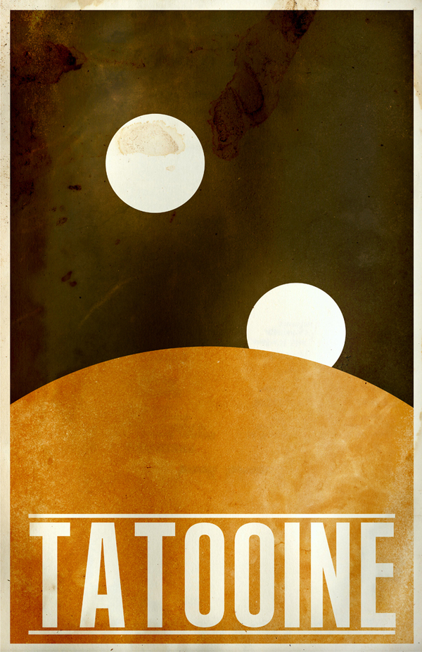 Photo of Galaxy Star Wars en affiches minimalistes par Justin van Genderen