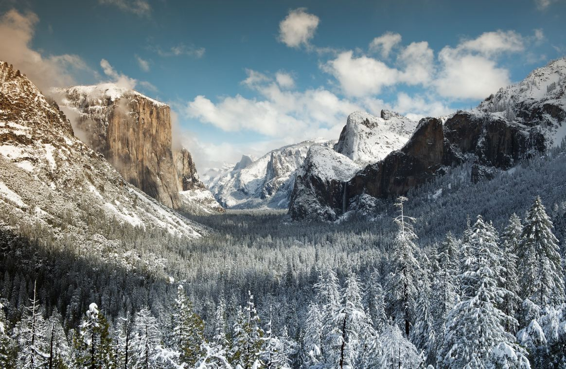 Photo of Photo du jour #49 : Yosemite valley from Tunnel View at winter
