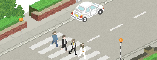 Photo of Les Albums Beatles en pixel art