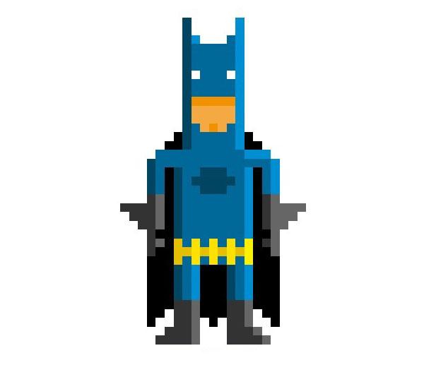 Batman-Woman-Pixel-Superheroes-Pahito