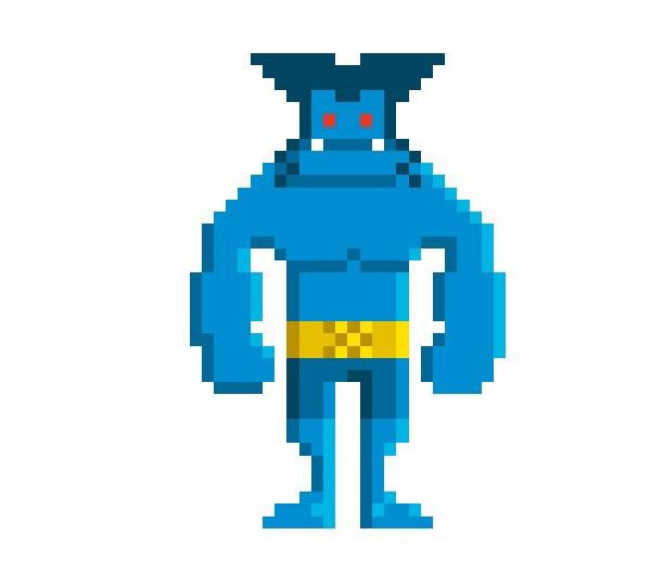 Beast-Woman-Pixel-Superheroes-Pahito