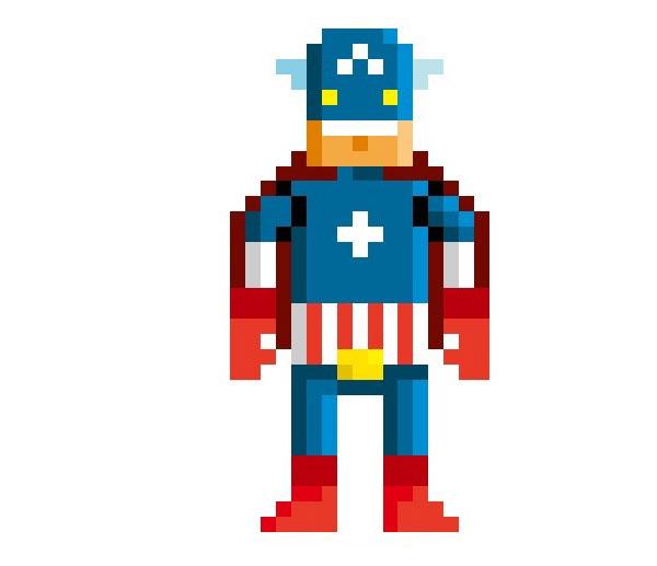 Captain-America-Woman-Pixel-Superheroes-Pahito